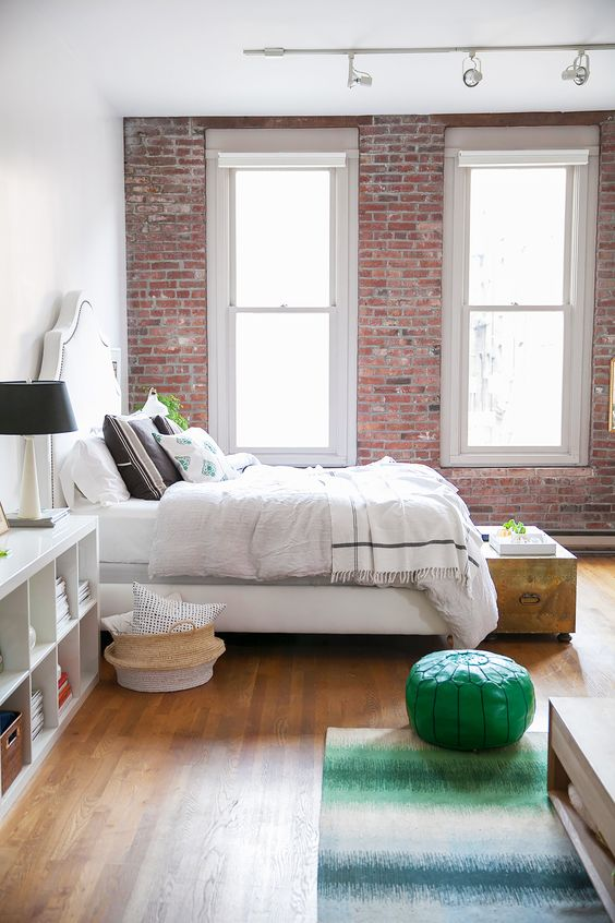 astounding bedroom wall interior design | 25 Amazing Bedrooms With Brick Walls