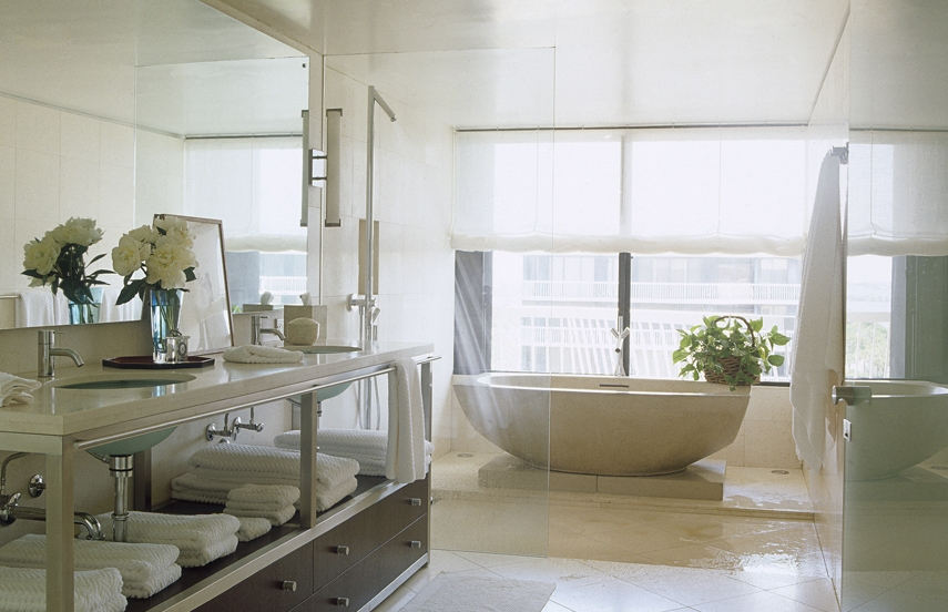 25 extraordinary master bathroom designs for Master bathroom decor