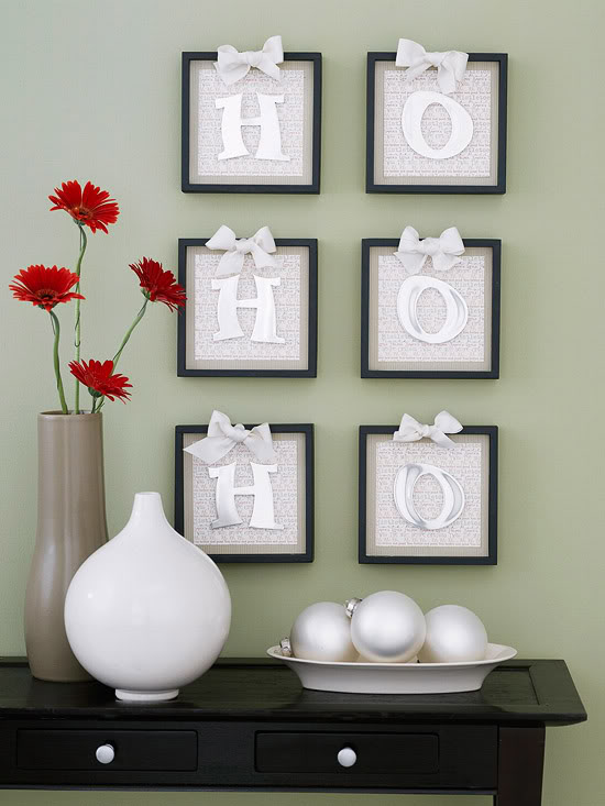Christmas Wall Decor Diy : Simple christmas decorating ideas