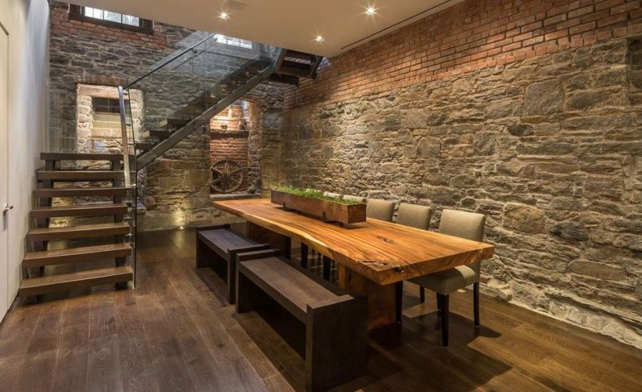 Basement Rustic Dining Room Tables
