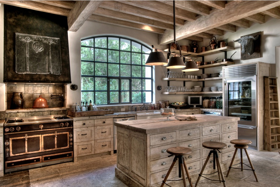 white-rustic-kitchen-design