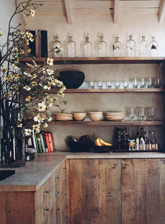 Minimalist Rustic Kitchen