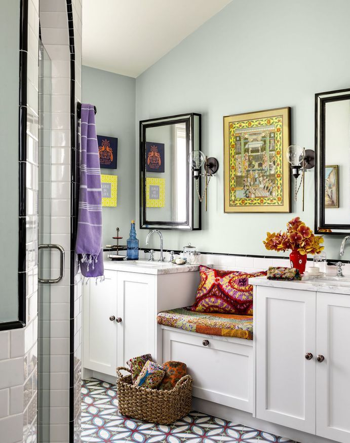 15 beautiful bathroom color ideas for Bathroom decor color schemes