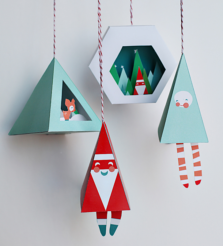 diy-christmas-decorations-with-printable-items