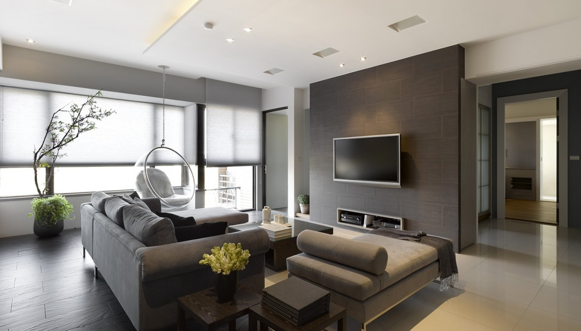 the spacious place in this modern living room is ingeniously used in