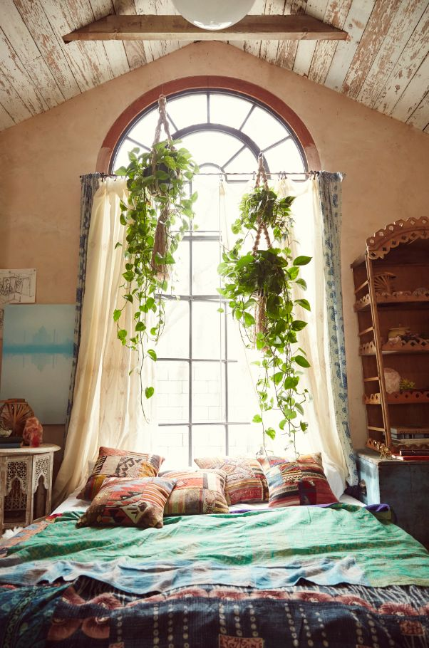 20 amusing bohemian bedroom ideas for Room decor ideas with plants