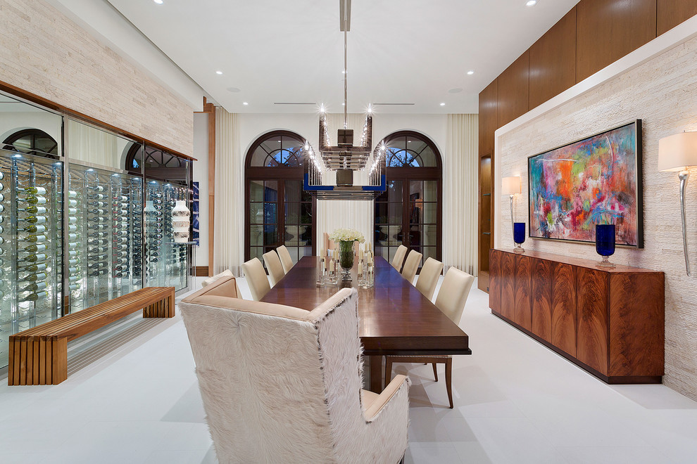 Enclosed Contemporary Dining Room