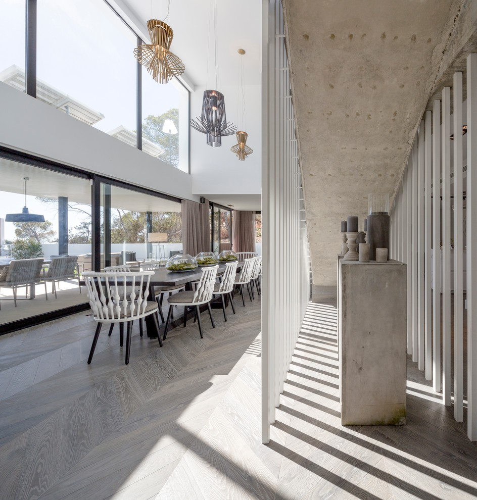 Expansive Contemporary Dining Room