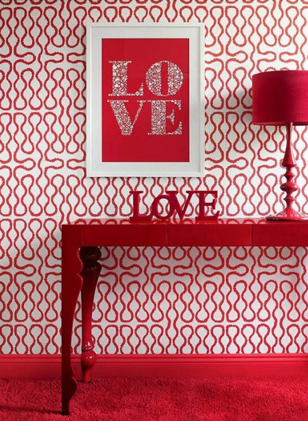 Romantic Red Valentine Decor Idea