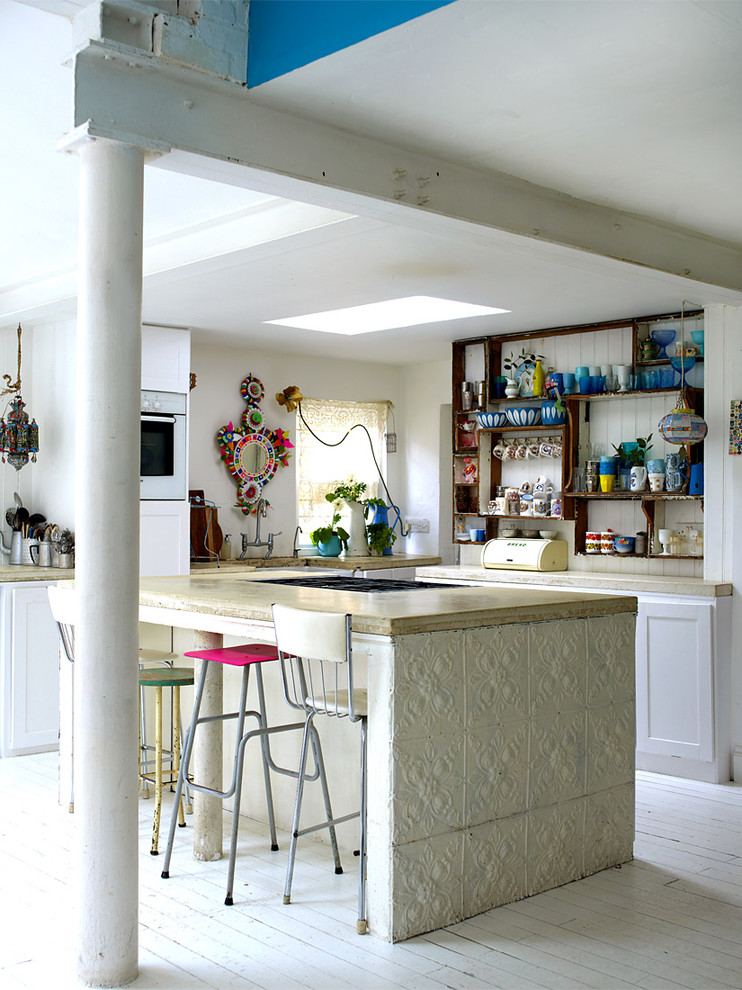 Shabby Chic Style L-Shaped Kitchen