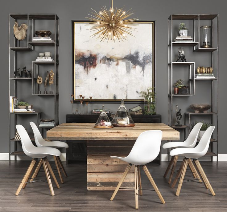30 Ways To Create A Trendy Industrial Dining Room: 21 Captivating Contemporary Dining Room Designs