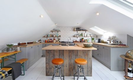 Attic Industrial Kitchen