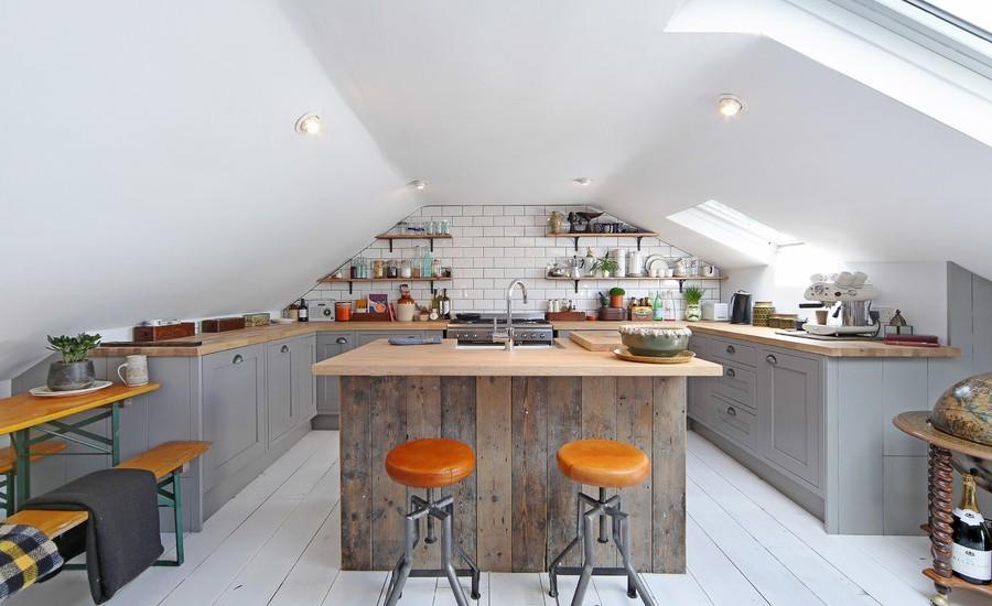 Attic Industrial Kitchen
