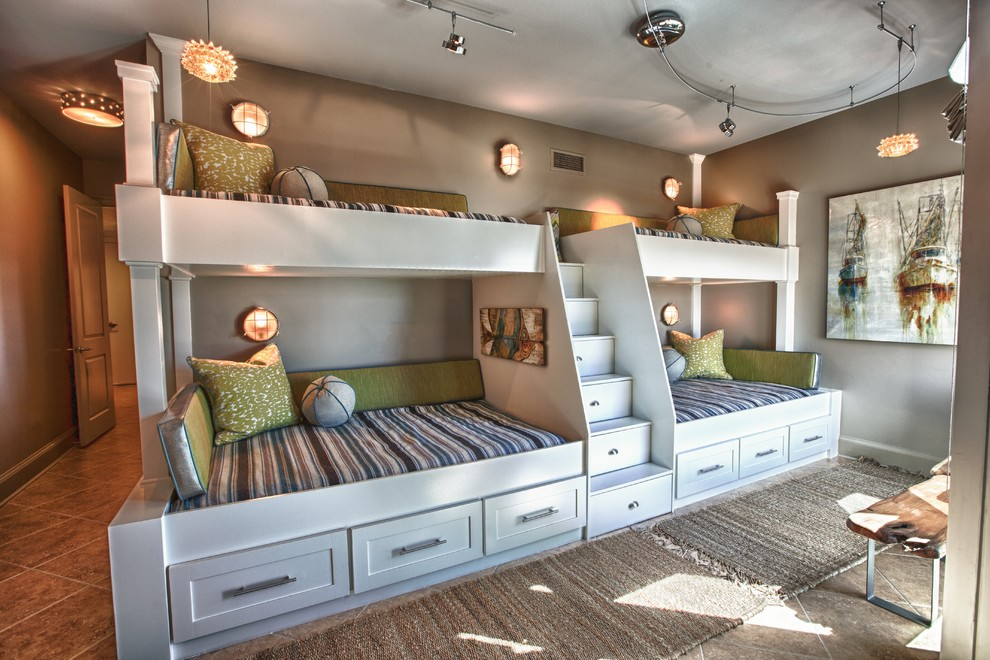 Beach Style Kids Bedroom Design