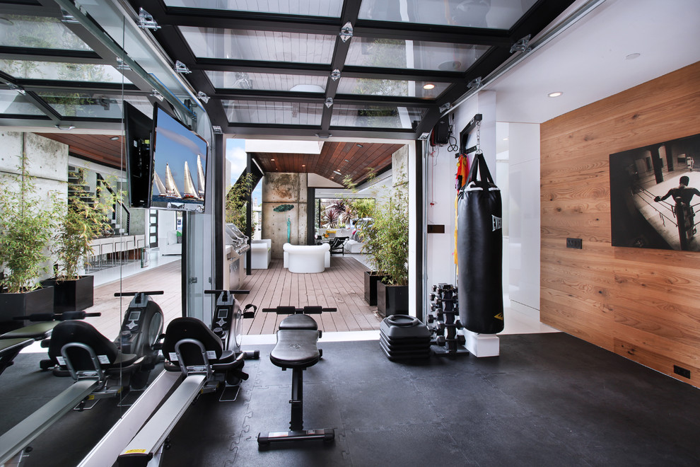 contemporary home gym design