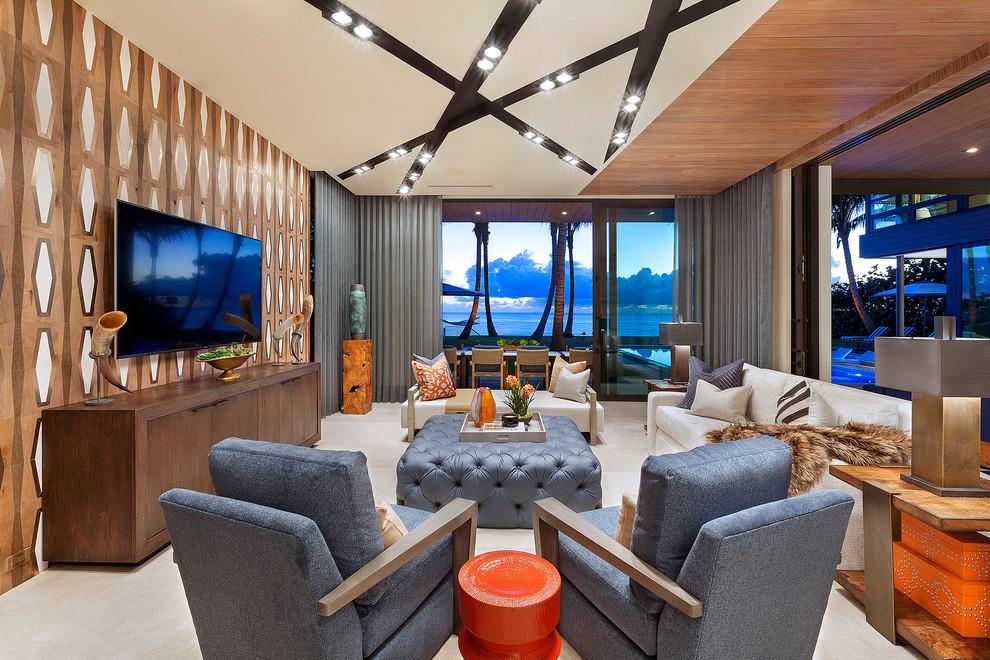 Contemporary Tv Room Design