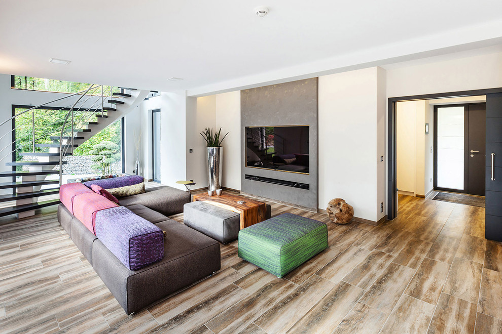 Eclectic Tv Room Design
