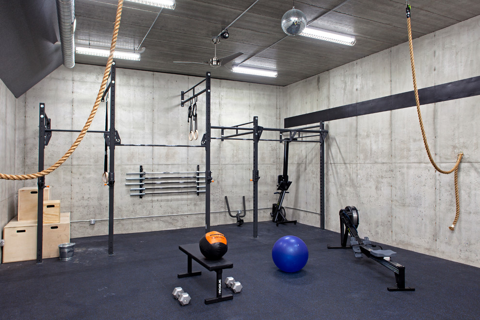 Industrial Home Gym Design