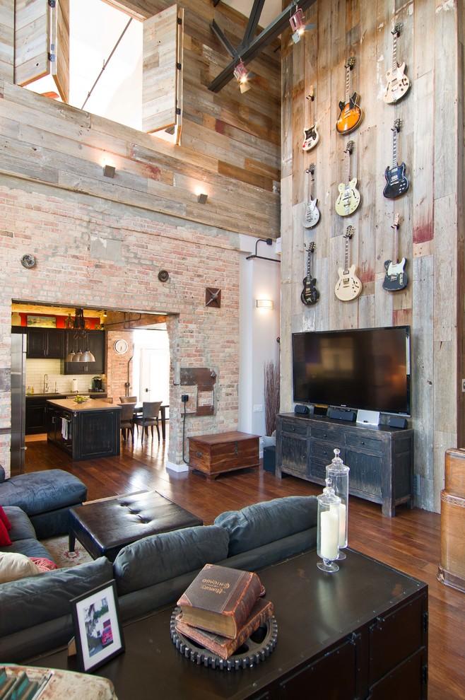 Industrial Tv Room Design