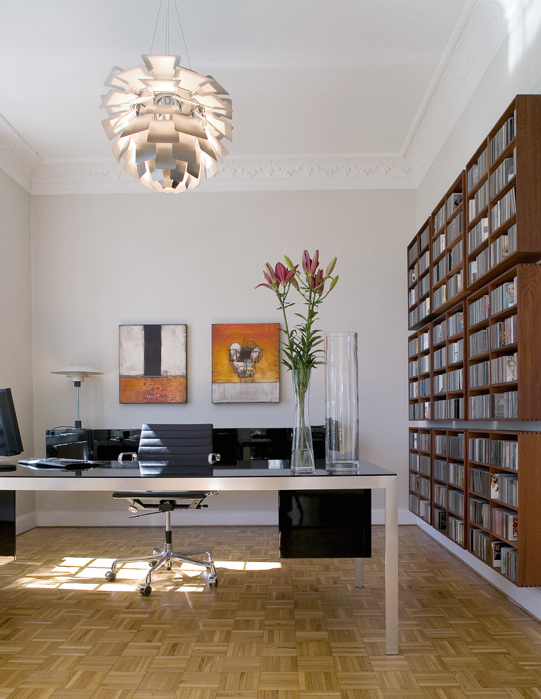 Large Midcentury Home Office