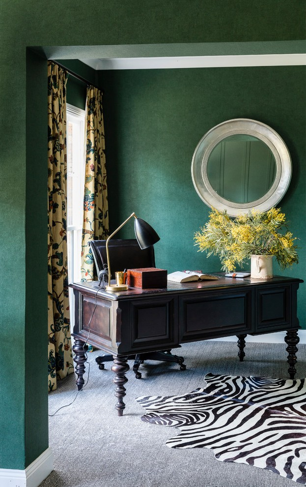 Large Transitional Home Office
