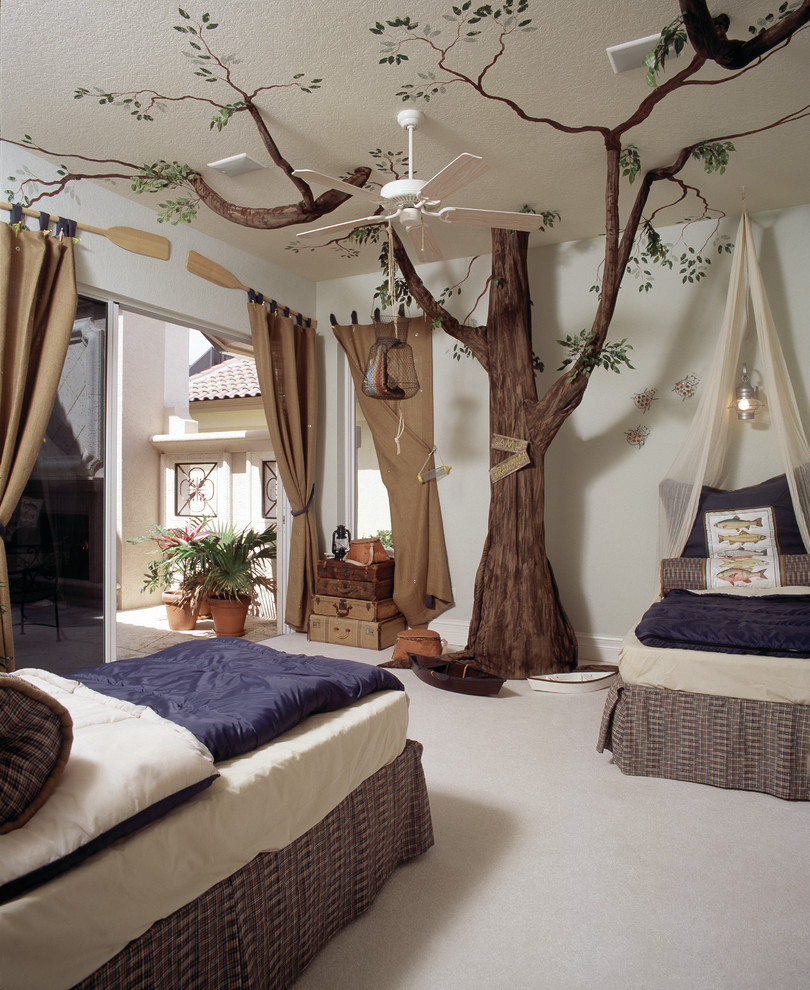Mediterranean Kids Bedroom Design