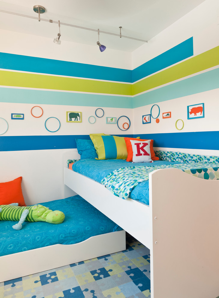 Midcentury Kids Bedroom Design