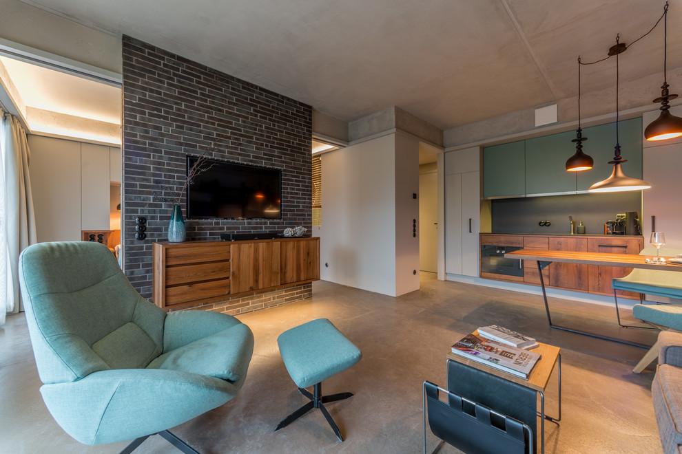 Midcentury Tv Room Design