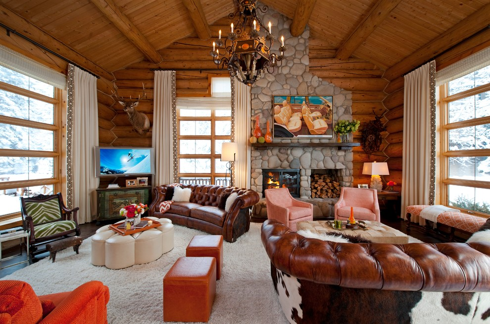 Rustic Tv Room Design