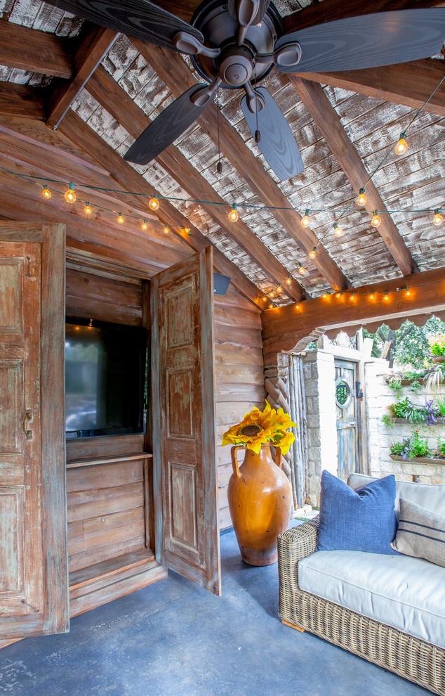 Shabby-Chic Style Tv Room Design