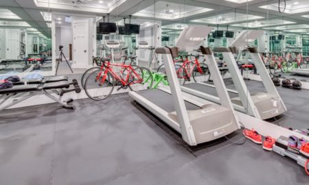 Transitional Home Gym Design