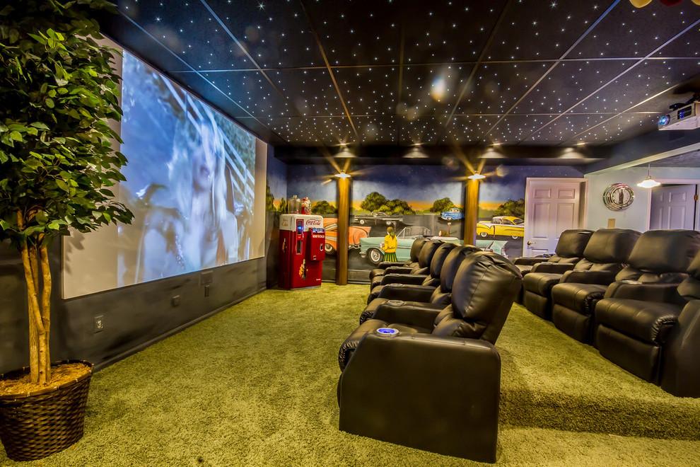 Transitional Tv Room Design