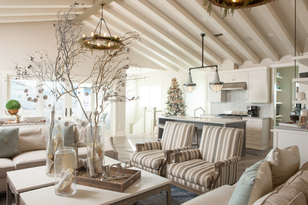 Beach Style Living Room Christmas Decoration