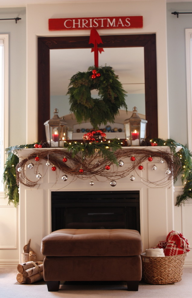 Fireplace Wreath Decor