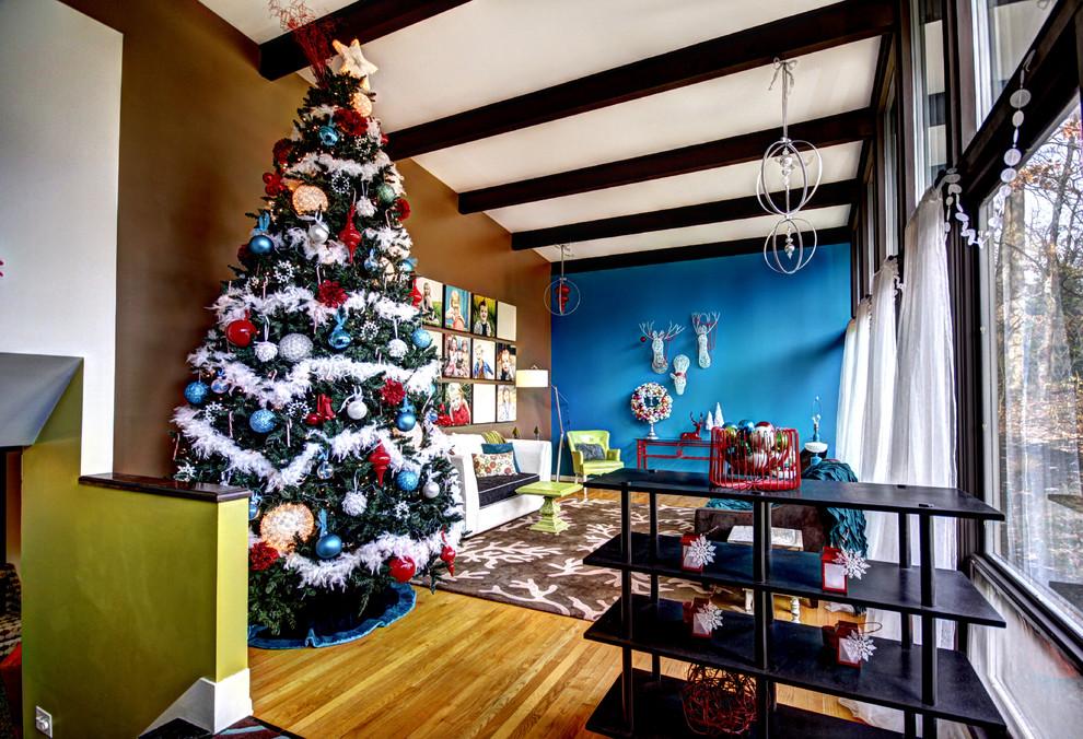 Midcentury Living Room Christmas Tree Decoration