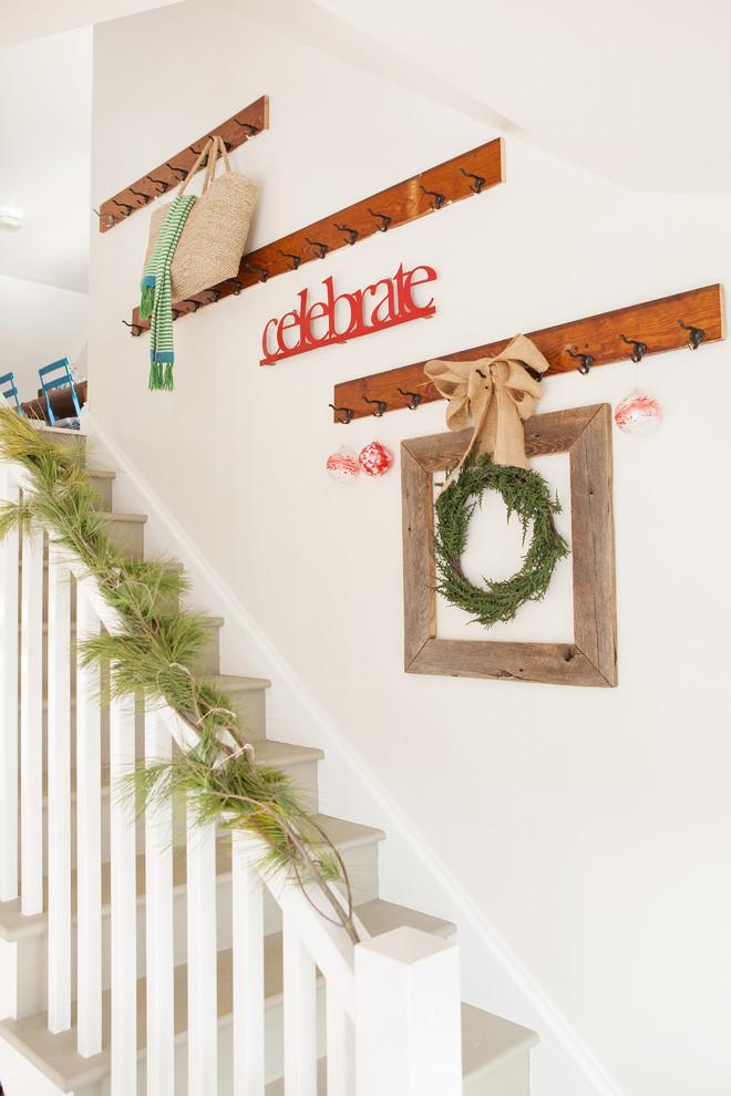 Shabby Chic Style Staricase Wreath Decor