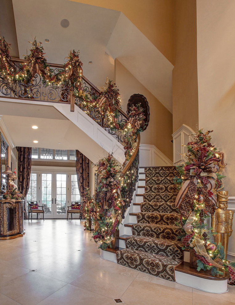 Traditional Wooden Staircase Decoration