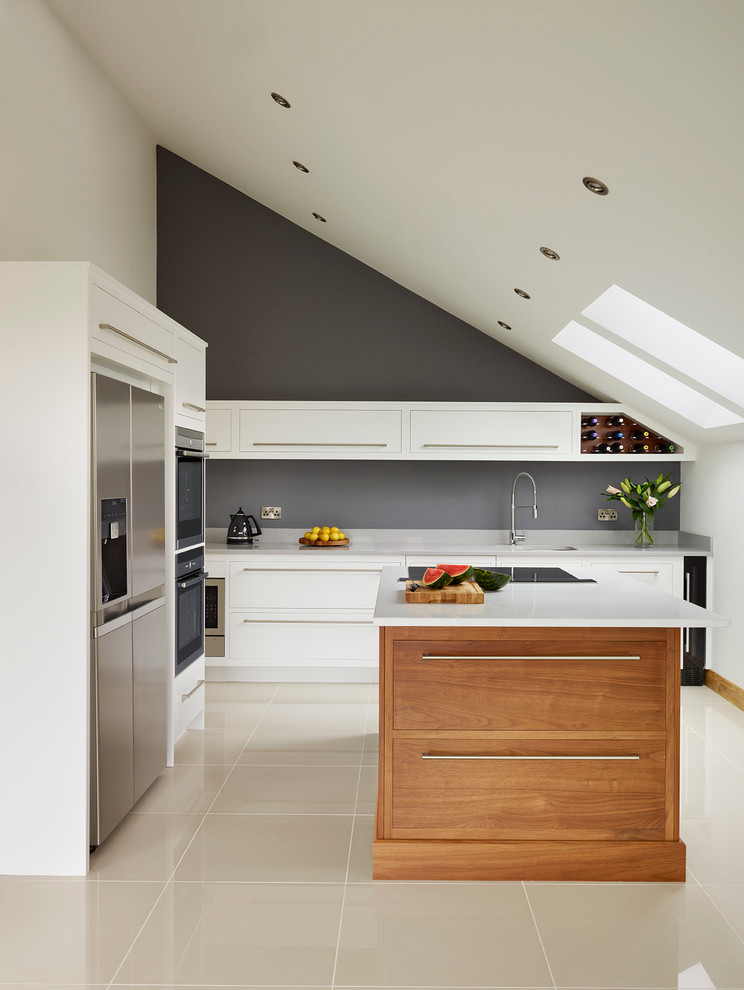 Attic Contemporary Kitchen Design