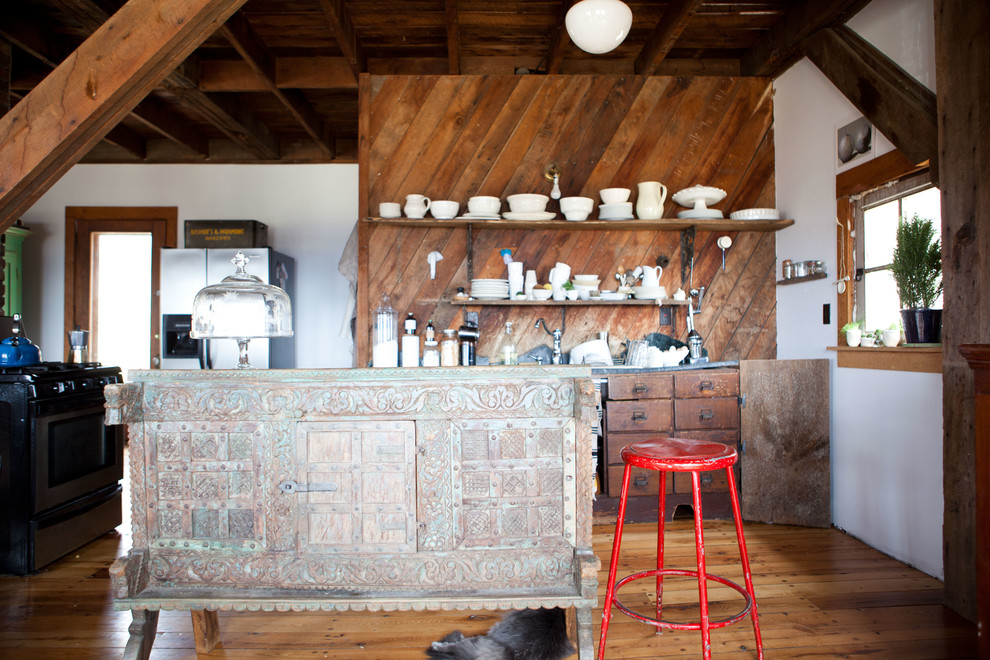 Attic Eclectic Kitchen Design