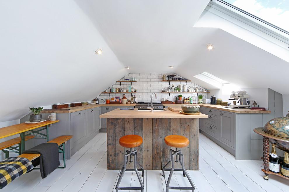 Attic Industrial Kitchen Design