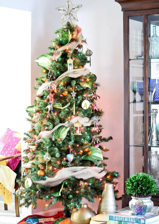 Colorful Global Boho Christmas Tree