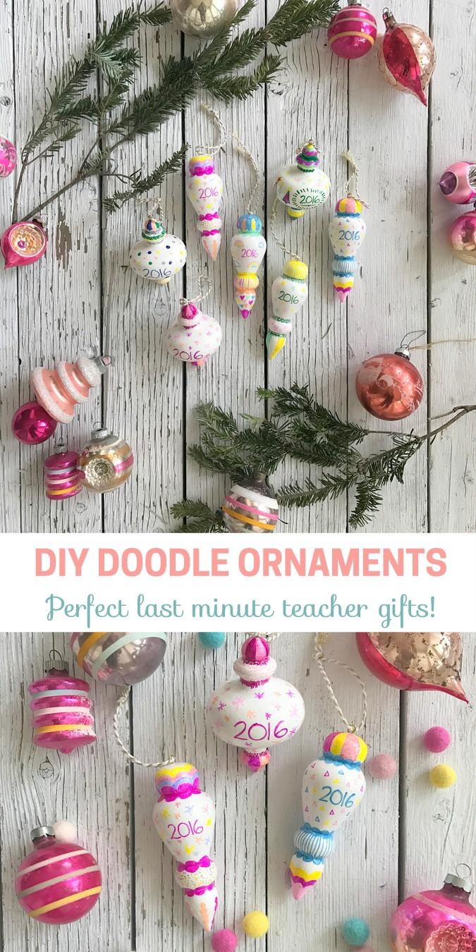 DIY Doodle Ornaments
