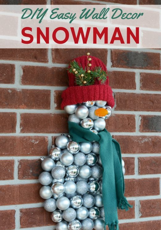 DIY Easy Snowman Wall Decoration