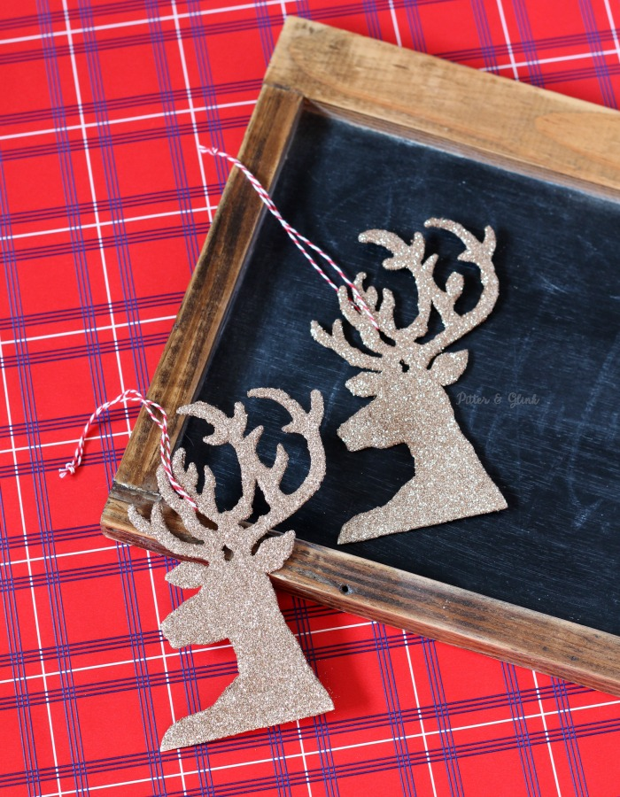 Easy DIY Glitter Reindeer Ornaments