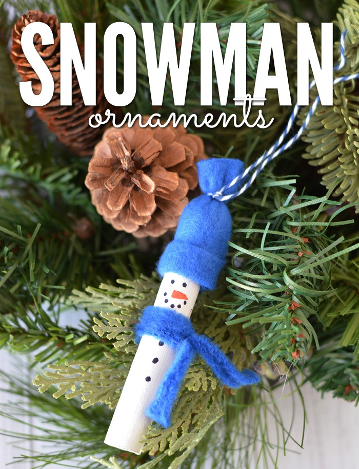 Easy Snowman Ornaments