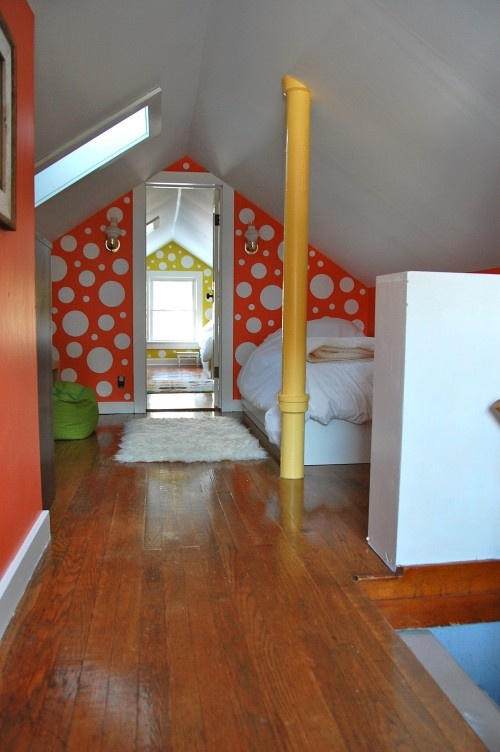 Kids Attic Colorful Bedroom