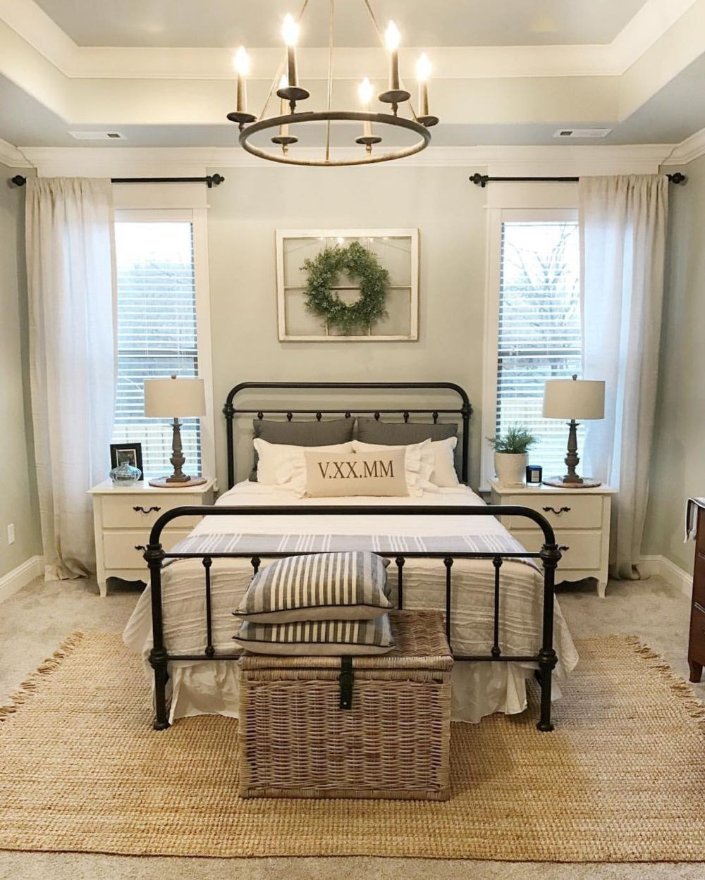 Beautiful Urban Farmhouse Master Bedroom