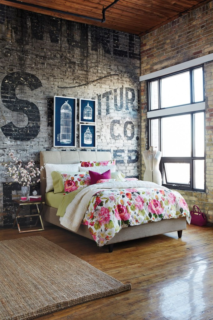 Industrial Style Lofty Bedroom