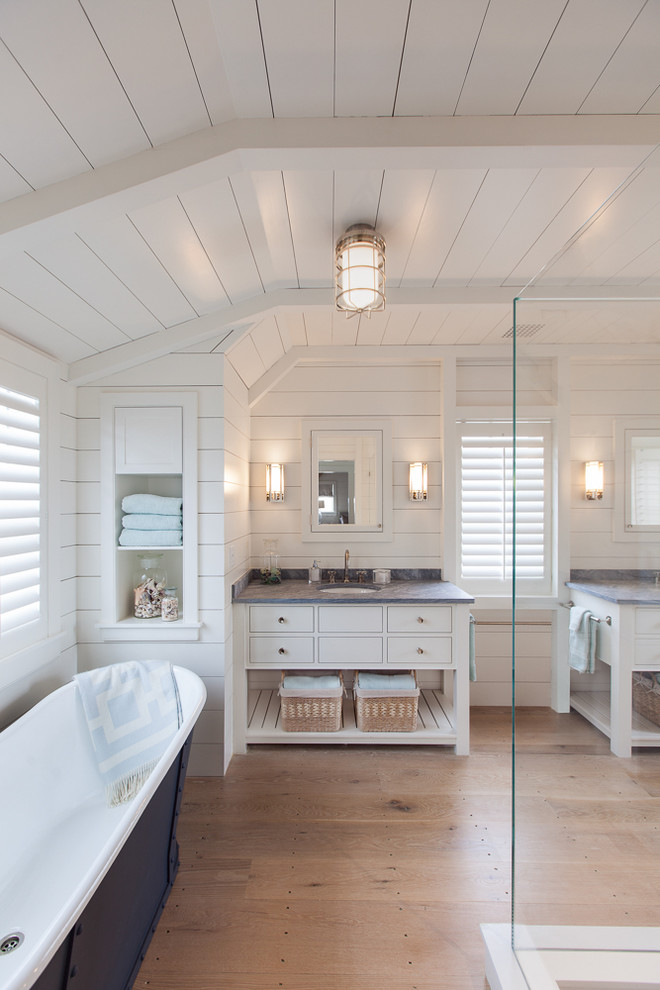 Attic Beach Style Bathroom