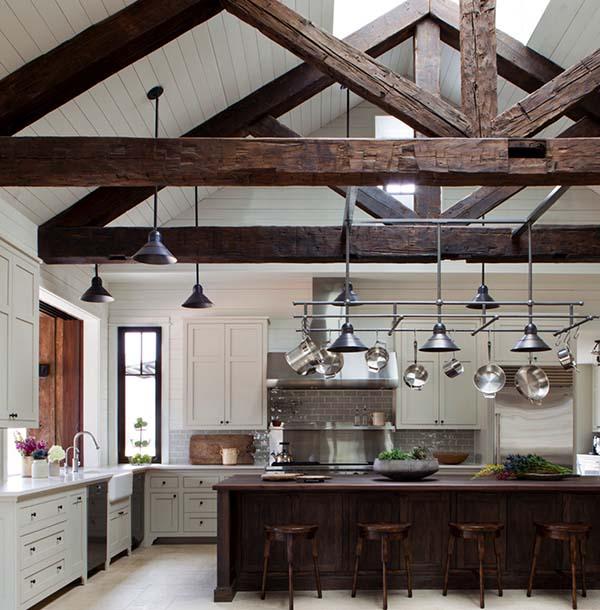 Attic Farmhouse Style Kitchen Dwellingdecor